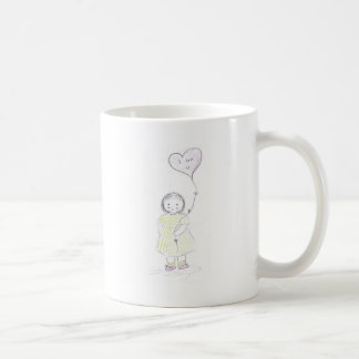 I luv you balloon (mother's day) basic white mug