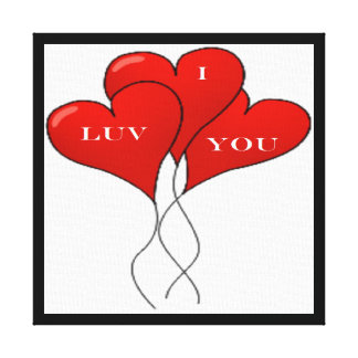 """""""I LUV YOU"""" BALLOONS GALLERY WRAPPED CANVAS"""
