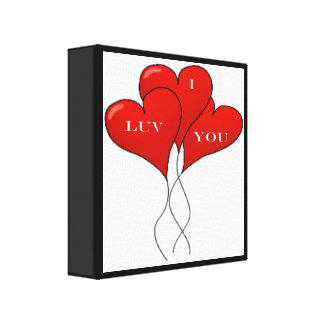 """""""I LUV YOU"""" BALLOONS GALLERY WRAP CANVAS"""