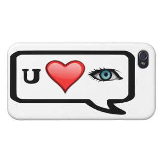 I Luv You Selfie Message Iphone 4 Case