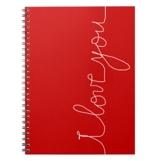 i luv you spiral note books