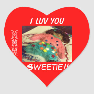 I Luv You-Sweetie!! Valentine stickers