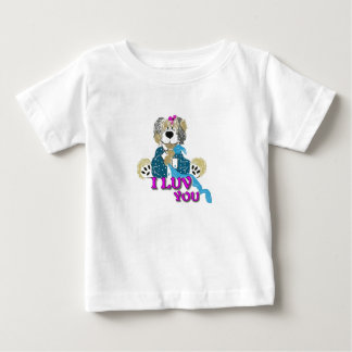 I Luv You  Teddy Bear  shirt, child Baby T-Shirt