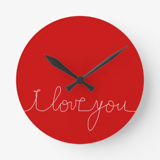 i luv you wall clocks