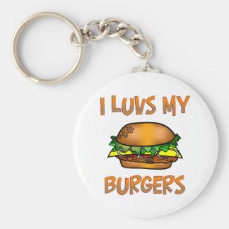 I Luvs Burgers Keychain