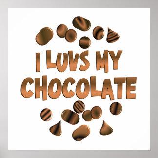 I Luvs Chocolate Print