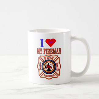 I LUY MY FIREMAN COFFEE MUG
