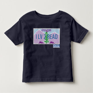 """I LV 2 READ"" License Plate Kids T-shirt"
