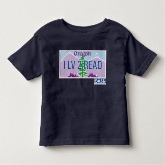 """I LV 2 READ"" License Plate Kids T-shirt"