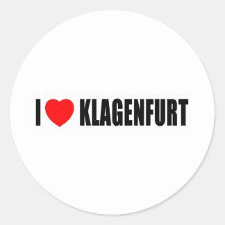 I Lvoe Klagenfurt Round Sticker
