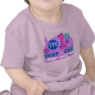 I m 1 Years Old Personalize with Child s Name Tshirt