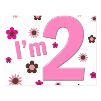 I m 2 Pink Brown Flowers Postcard