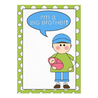 i m a big brother baby girl announcement