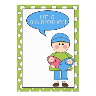 i m a big brother boy girl twins announcement
