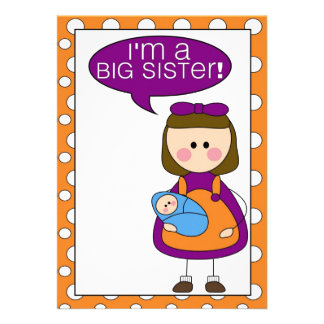 i m a big sister brother announcement