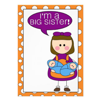 i m a big sister twin boys announcement