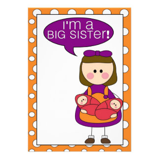 i m a big sister twin sisters announcement