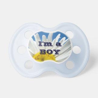 I m a Boy baby pacifier custom Designer Blue Sky