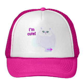 I m a Cute Cat Hats