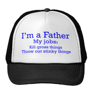 I m a Father Funny Father s Jobs for Dad Mesh Hat