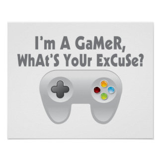 I m A Gamer What s Your Excuse Posters