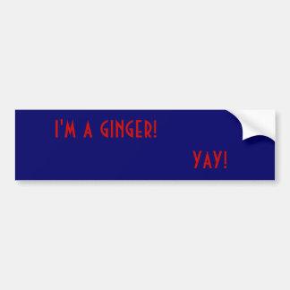 i m a ginger yay bumper sticker