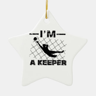 I'm a Keeper – Soccer Goalkeeper designs Christmas Ornament
