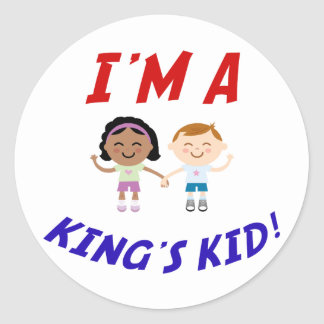 I m a King s Kid Stickers