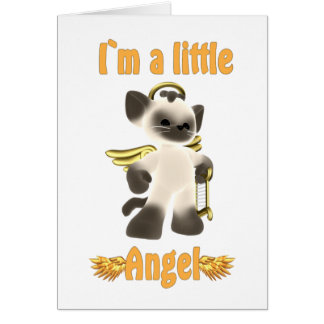 I`m a little angel greeting card