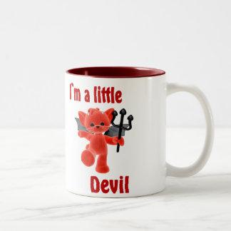 I`m a little devil Two-Tone mug