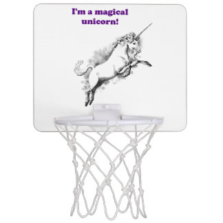 I'm a Magical Unicorn Funny Cartoon Mini Basketball Hoop