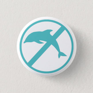 I'm a marine biologist and i hate dolphins 3 cm round badge