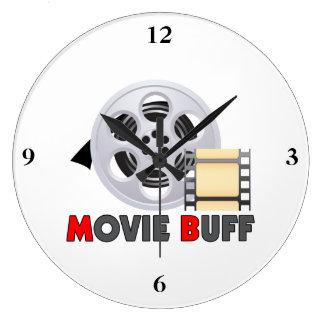 I m A Movie Buff Wall Clocks