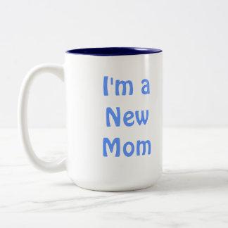I m a New Mom Blue Coffee Mug