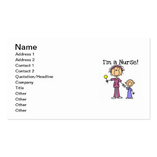 I m a Nurse T-shirts and Gifts Business Card Template