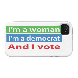 I m a Woman I m a Democrat and I Vote iPhone 4/4S Covers