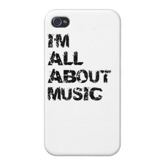 I m All About Music iPhone 4/4S Case