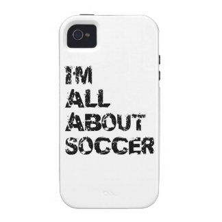 I m All About Soccer Case-Mate iPhone 4 Cover