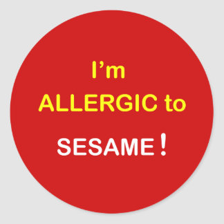 I m Allergic - SESAME Round Sticker