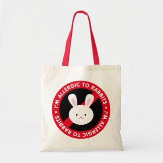 I m allergic to rabbits Rabbit allergy Tote Bag