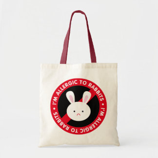 I m allergic to rabbits Rabbit allergy Tote Bag