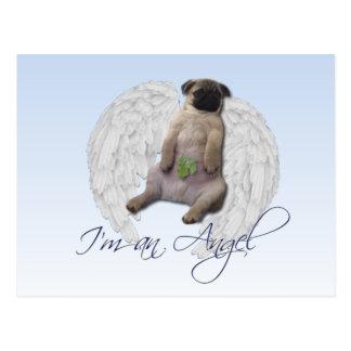 I m an angel - Pug Postcard