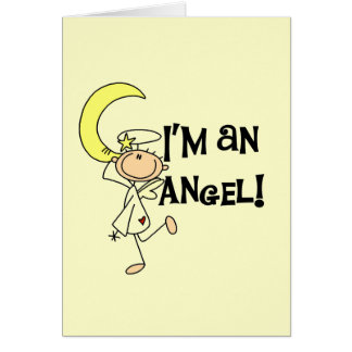 I m an Angel T-shirts and Gifts Greeting Card