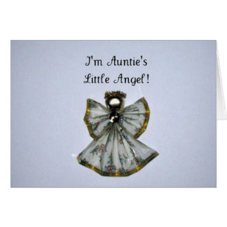 I m Auntie s Little Angel Greeting Card