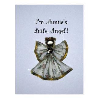 I m Auntie s Little Angel Postcard
