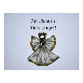 I m Auntie s Little Angel Postcard