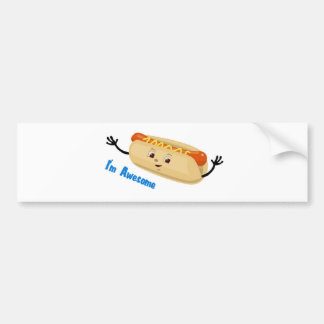 I m Awesome hotdog Bumper Sticker