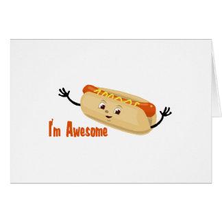 I m Awesome hotdog Card