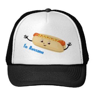 I m Awesome hotdog Mesh Hat