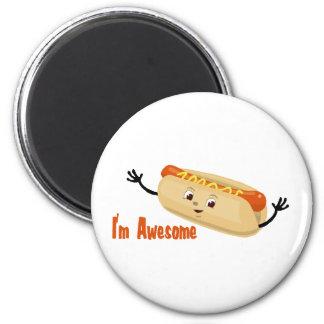 I m Awesome hotdog Refrigerator Magnet